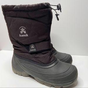 KAMIK Kids Winter Snow Black Boots Boys Size 6